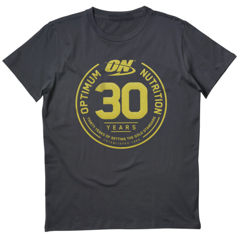 Optimum Nutrition 30 Year T-Shirt Black/Gold
