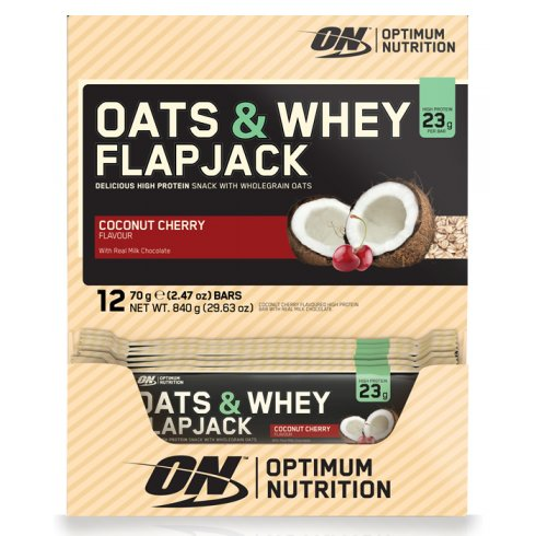 Optimum Nutrition Oats & Whey Flapjack 12 X 70g