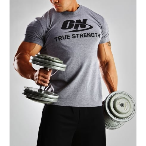 Optimum Nutrition T-Shirt - True Strength Grey