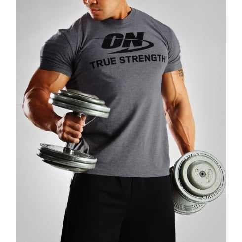 Optimum Nutrition T-Shirt - True Strength Heather Grey