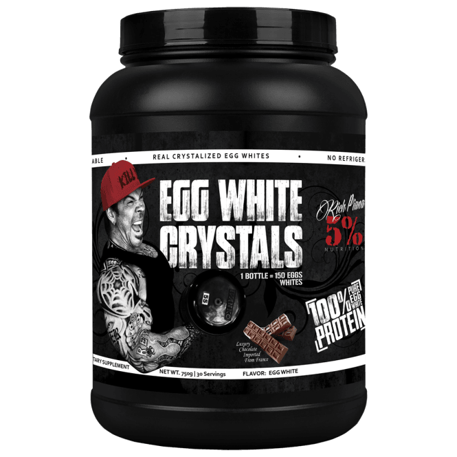 Rich Piana 5% Nutrition Real Food Egg White Crystals 30 Servings