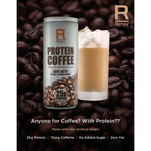 Reflex Nutrition Protein Coffee Fridge Sticker 19.5cm x 25cm