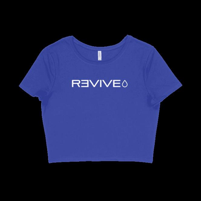 Revive MD Women's Logo Crop Top Blue/White