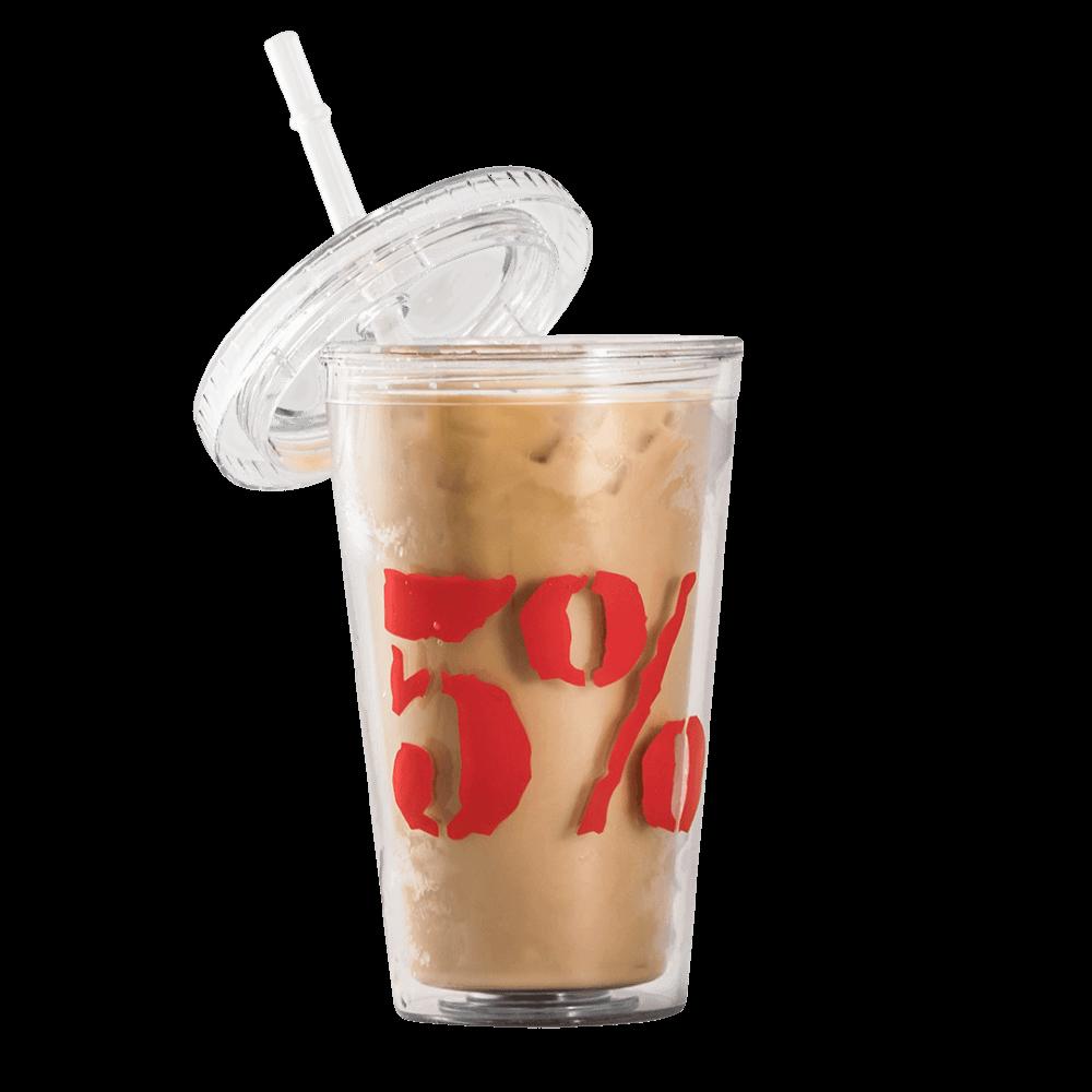 Rich Piana 5% Nutrition 5% Iced Coffee Cup & Straw 620ml