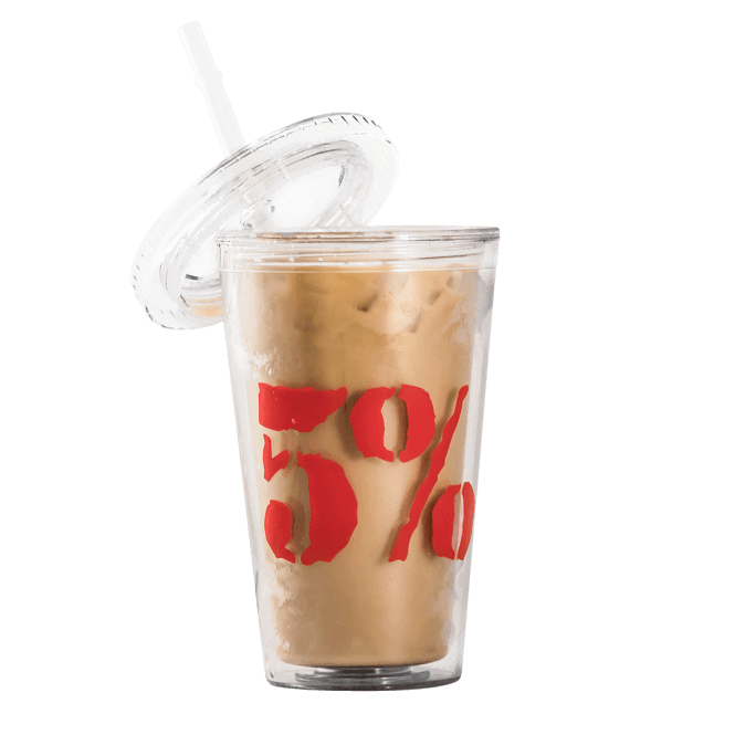 Rich Piana 5% Nutrition 5% Iced Coffee Cup & Straw 620ml