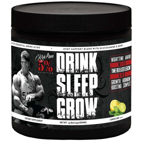 Rich Piana 5% Nutrition Drink Sleep Grow Night Time Aminos 450G