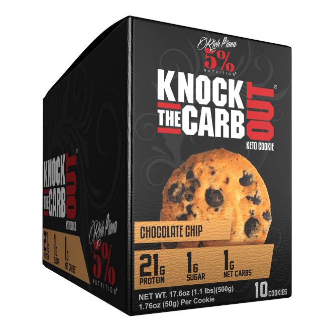 Rich Piana 5% Nutrition Knock The Carb Out Keto Cookies 10x50g
