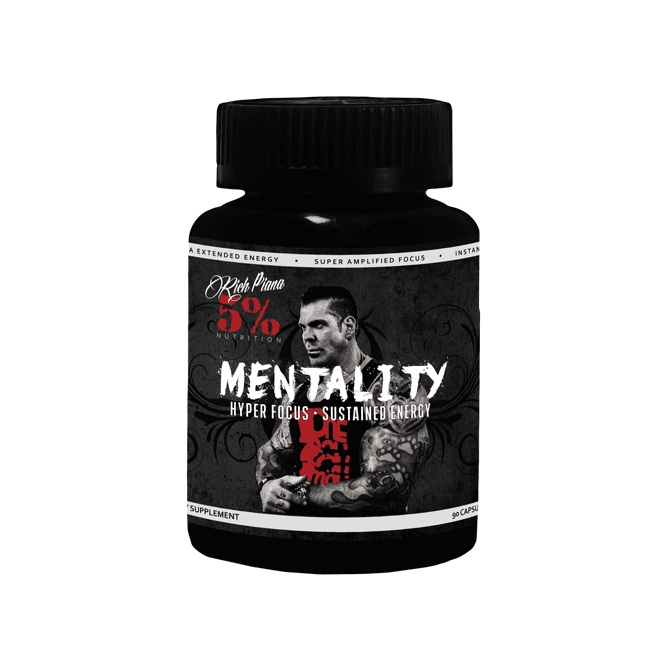 Rich Piana 5% Nutrition Mentality 90 Caps (SHORT DATED)