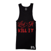 Rich Piana 5% Nutrition Apparel Love It Kill It / 5% Men'S Ribbed Tank Top Black/Red