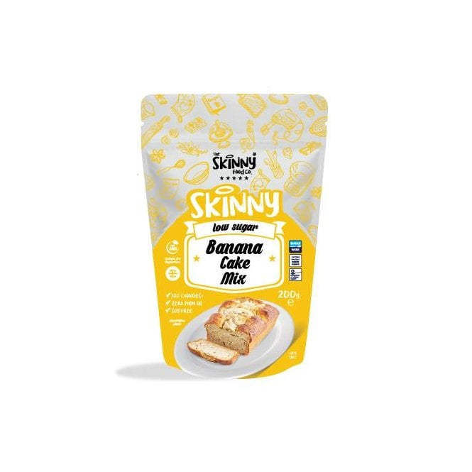 Skinny Food Co Low Calorie Banana Cake Mix 200g (10 Slices)