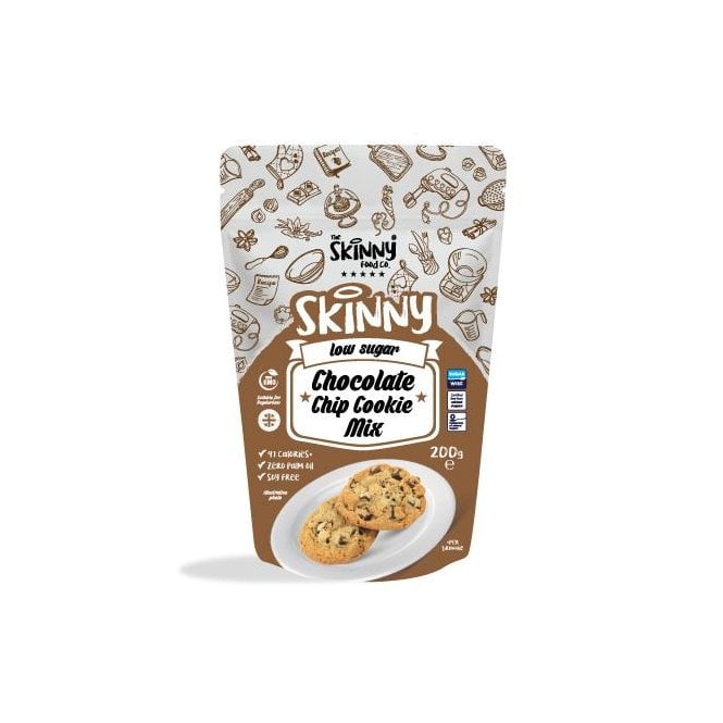 Skinny Food Co Low Calorie Chocolate Chip Cookie Mix 200g (9 Cookies)