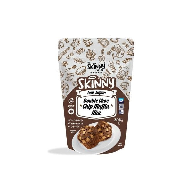 Skinny Food Co Low Sugar Double Chocolate Chip Muffin Mix 200g (10 Muffins)