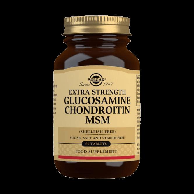 Solgar Extra Strength Glucosamine Chondroitin MSM (Shellfish-free) 60 Tablets