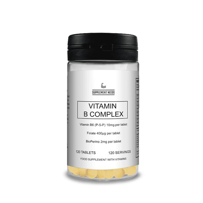 Supplement Needs Advanced Vitamin B Complex 120 Tablets