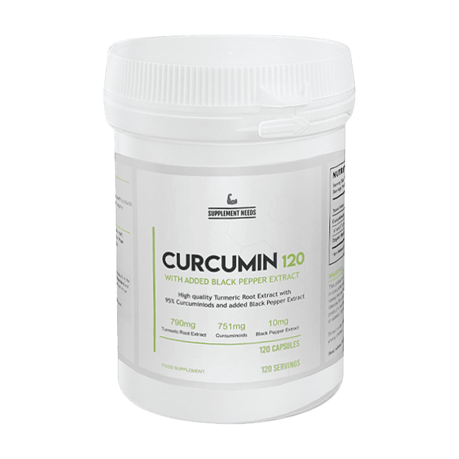 Supplement Needs Curcumin & Black Pepper Extract 120 Caps