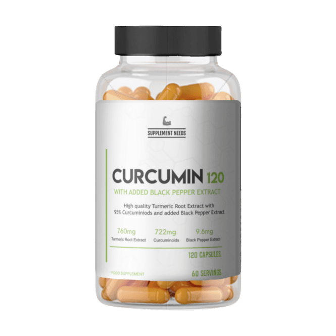 Supplement Needs Curcumin & Black Pepper Extract 240 Caps