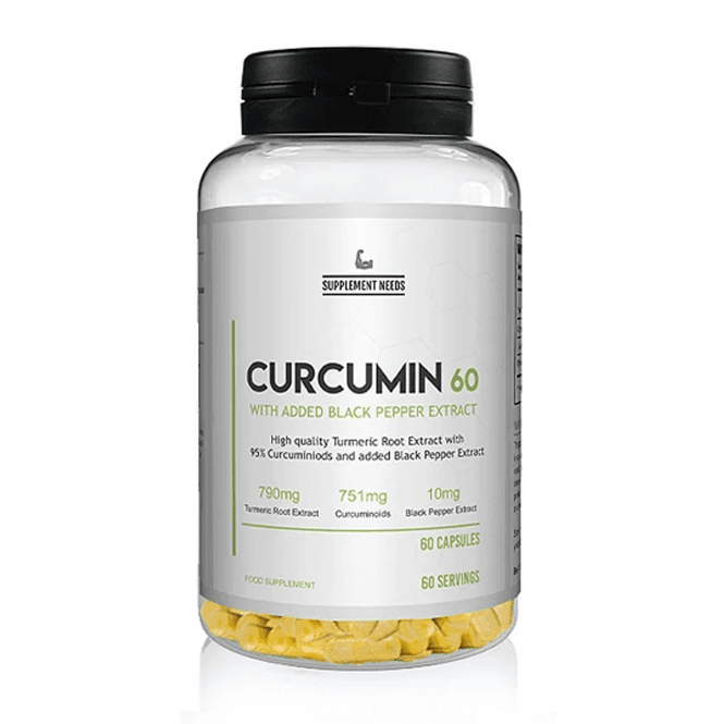Supplement Needs Curcumin & Black Pepper Extract 60 Caps