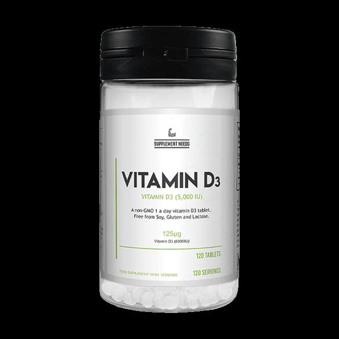 Supplement Needs Vitamin D3 120 Tablets