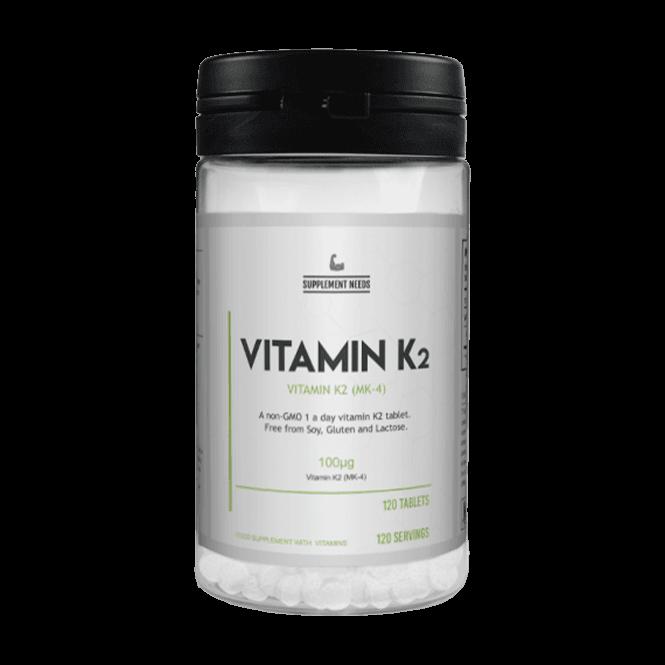 Supplement Needs Vitamin K2 120 Tablets