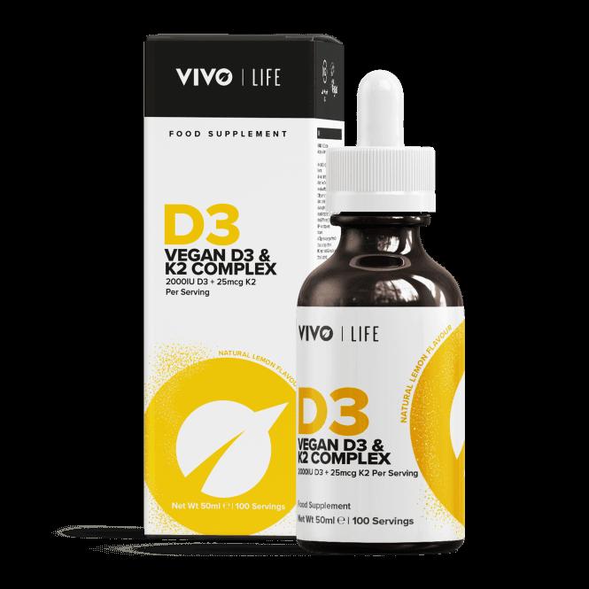 VIVO Life Vegan D3 + K2 100 Servings (50ml)