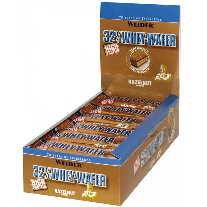 Weider 32% Whey Wafer Bar 24 x 35g (SHORT DATED)