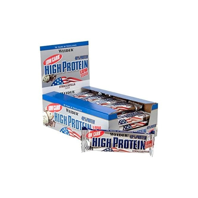 Weider 40% Low Carb High Protein Bar 24 x 50g