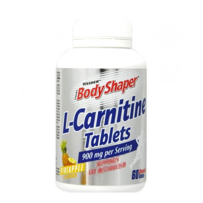 Weider L-Carnitine Tablets 60 Tabs (SHORT DATED)